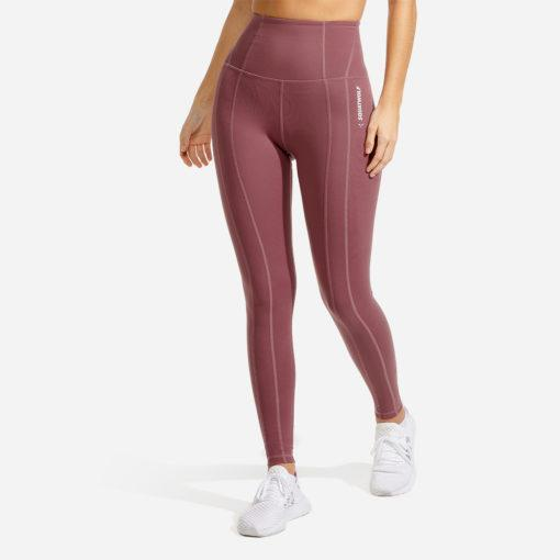 Squat Wolf Warrior High-Waisted Leggings - Dusty Rose