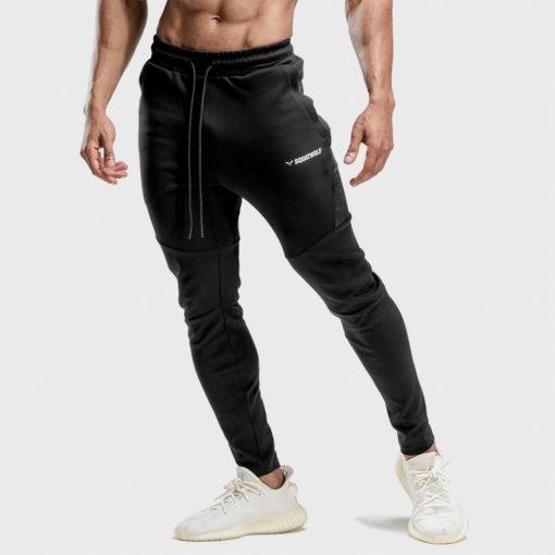 Squat Wolf Warrior Joggers - Black