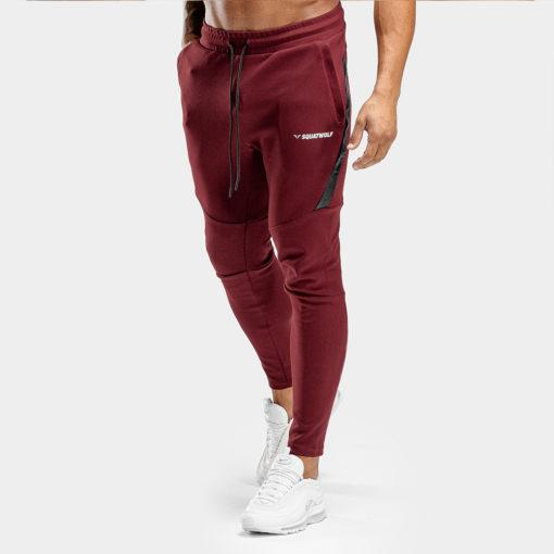 Squat Wolf Warrior Joggers - Maroon