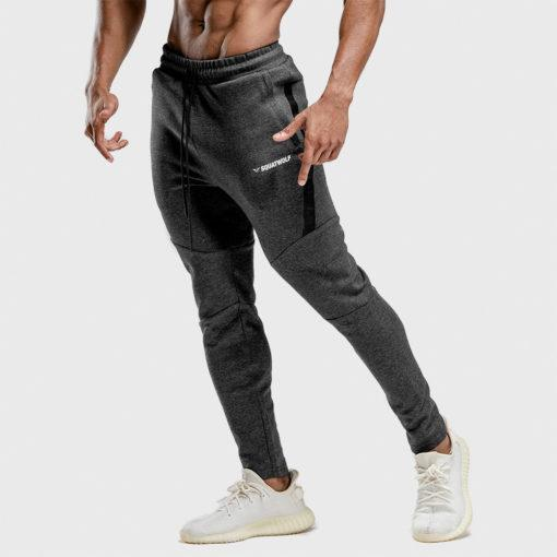 Squat Wolf Warrior Joggers - Melange Grey