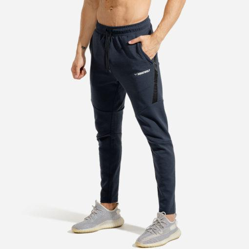 Squat Wolf Warrior Joggers Pants - Navy with Black Panel