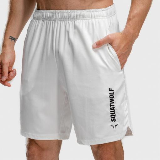 Squat Wolf Warrior Shorts - Pearl White