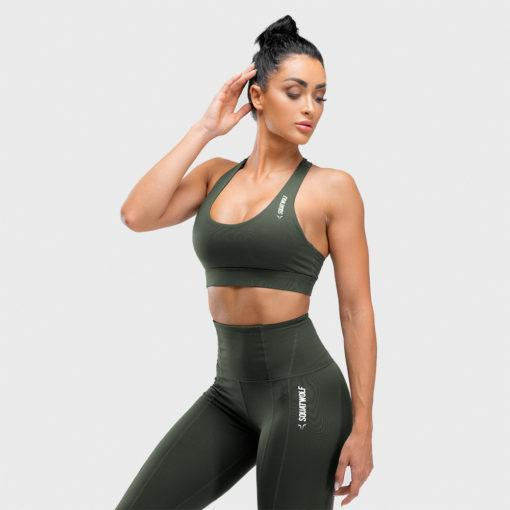 Squat Wolf Warrior Sports Bra - Olive