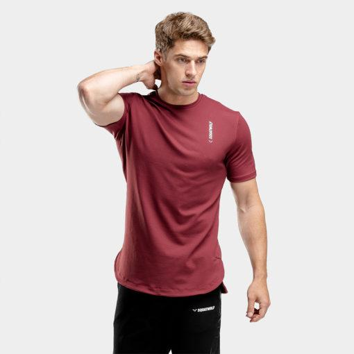 Squat Wolf Warrior Tee - Maroon