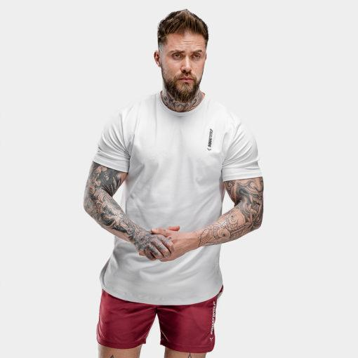 Squat Wolf Warrior Tee - Pearl White