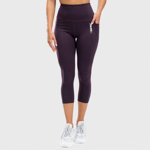 Squat Wolf We Rise High Waisted Cropped Leggings - Beetroot