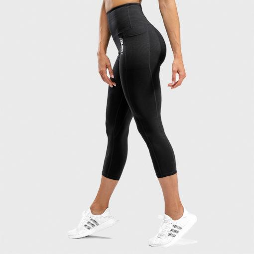 Squat Wolf We Rise High Waisted Cropped Leggings - Black