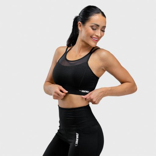 Squat Wolf We Rise Sports Bra - Black