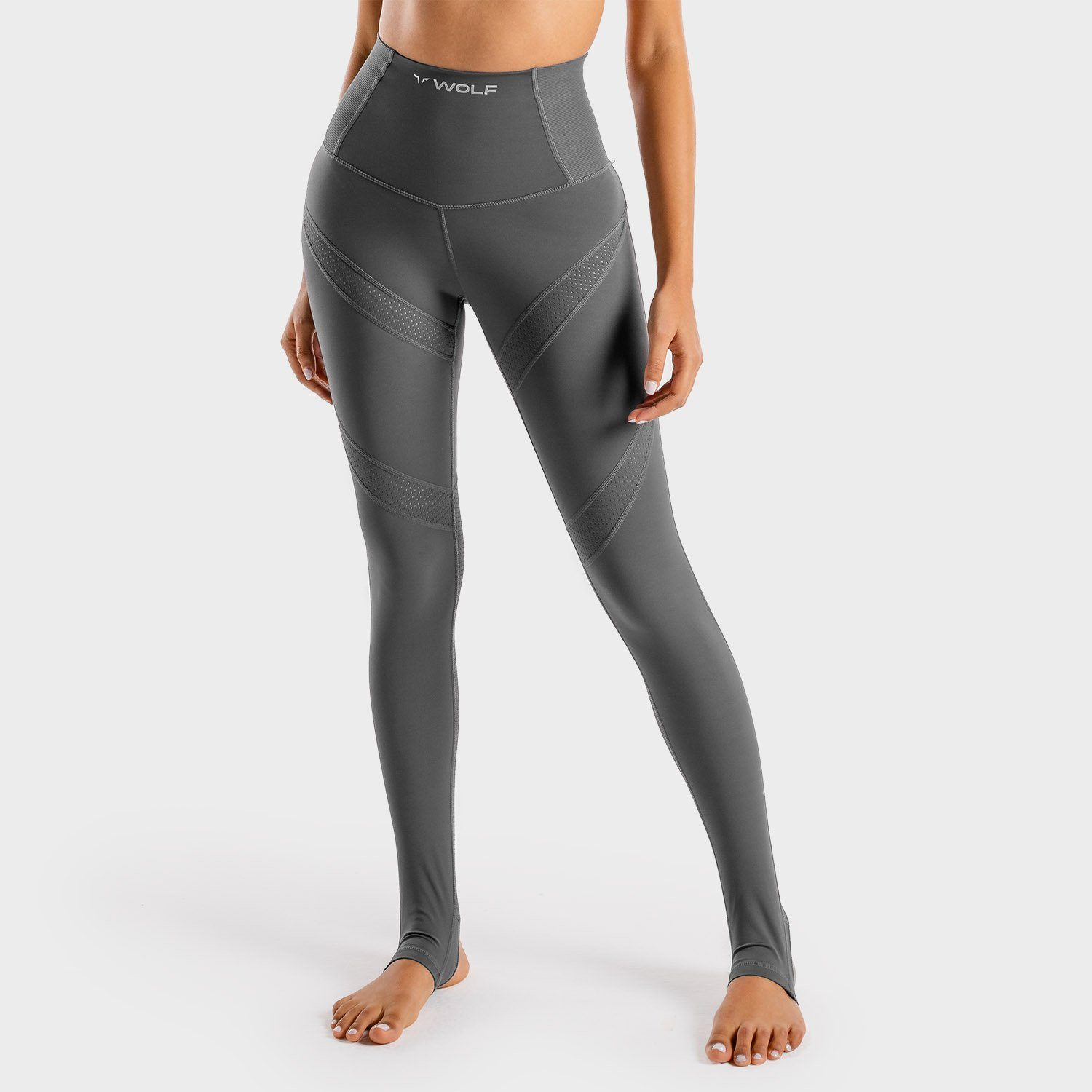 Squat Wolf Wolf Leggings – Graphite