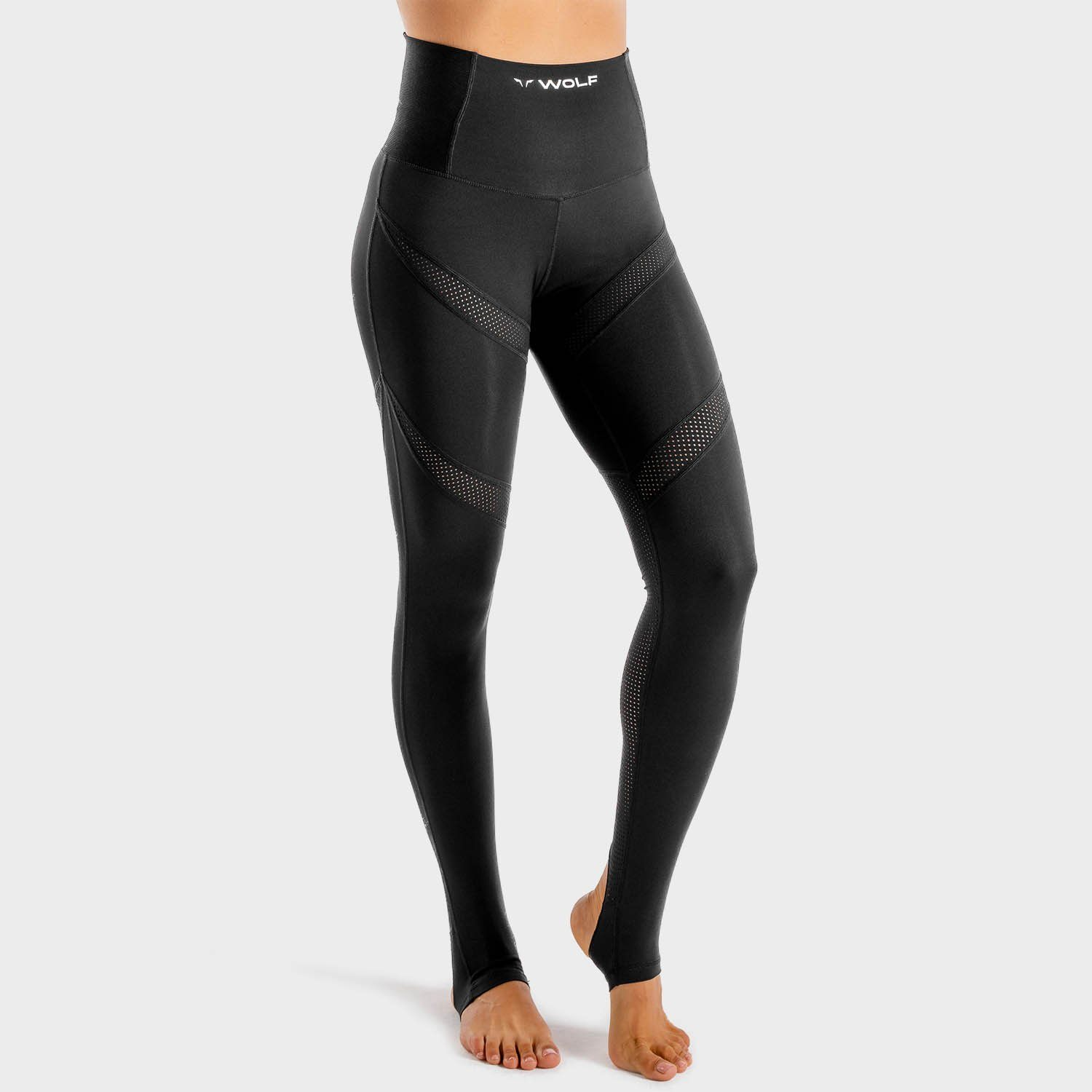 Squat Wolf Wolf Leggings – Onyx