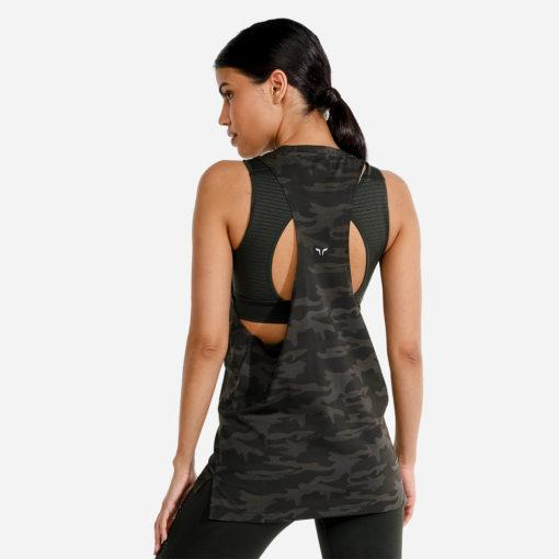 Squat Wolf Womens Evolve Tank - Camo