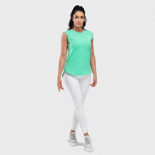Squat Wolf Womens Warrior Tank - Sea Green