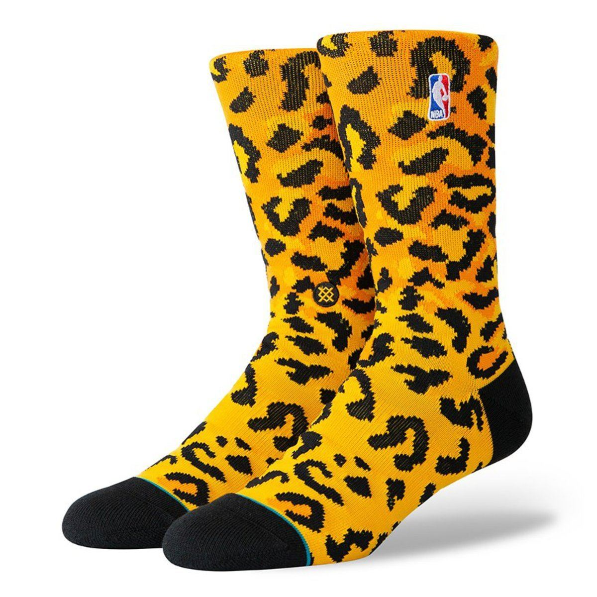 Stance Logoman Leopard Basketball Socks - Gold