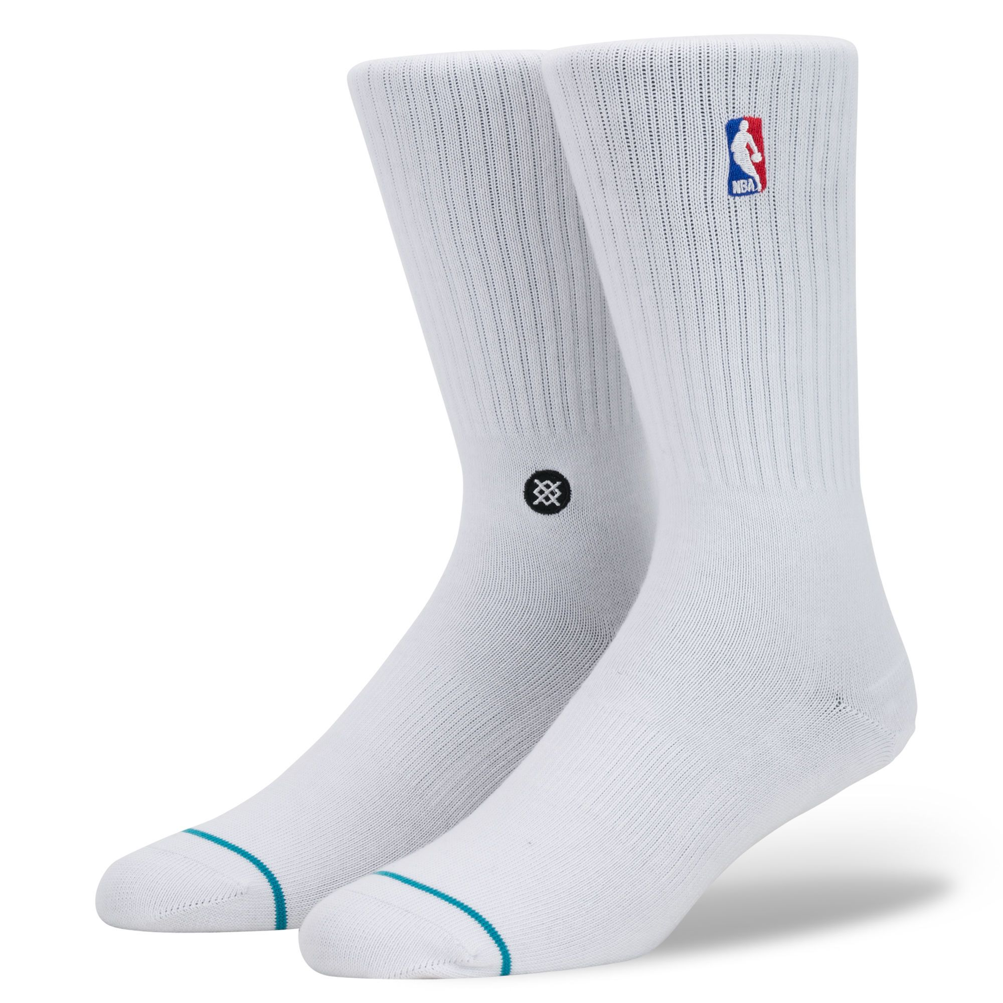 Stance NBA Logoman Crew Socks - White
