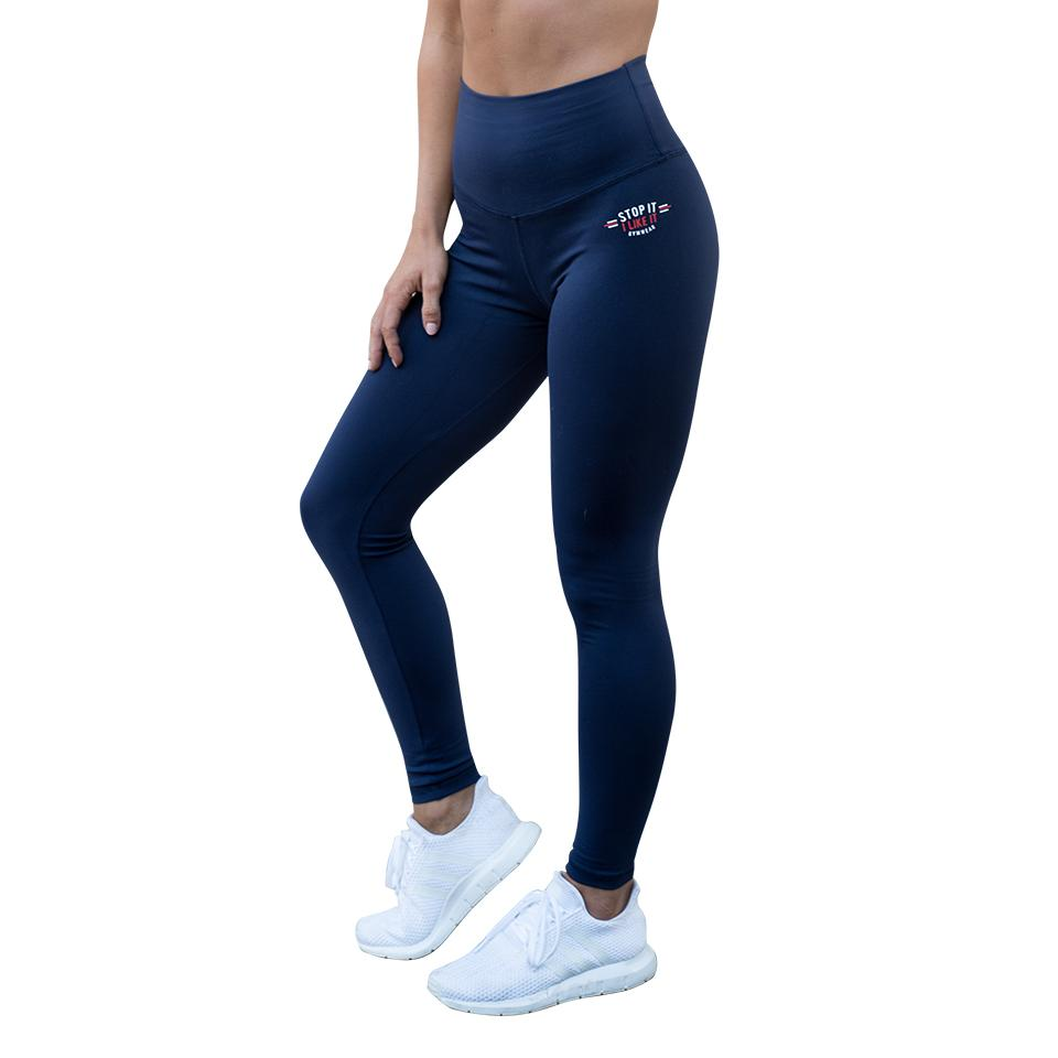 Stop It I Like It Scrunch Leggings - Bleu