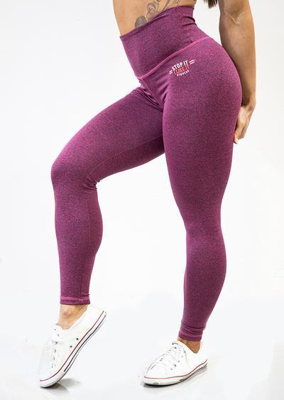 Stop It I Like It Scrunch Leggings - Cherry Ripe