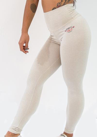 Stop It I Like It Scrunch Leggings - Milky Way