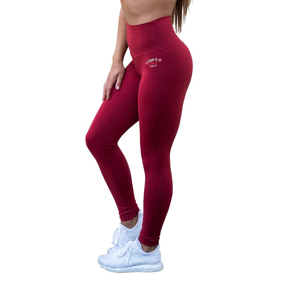 Stop It I Like It Scrunch Leggings - Sriracha