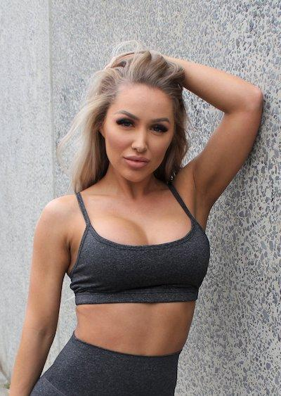 Stop It I Like It Simple Life Sports Bra - Charcoal