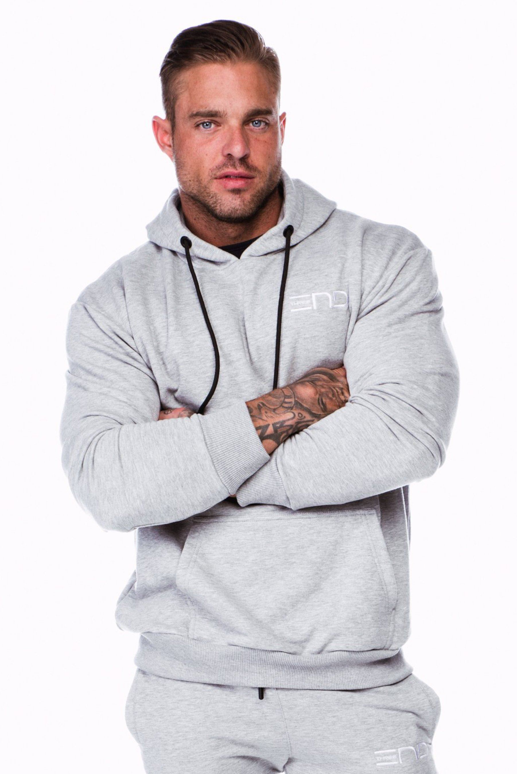 Three End Baller Hoodie - Grey