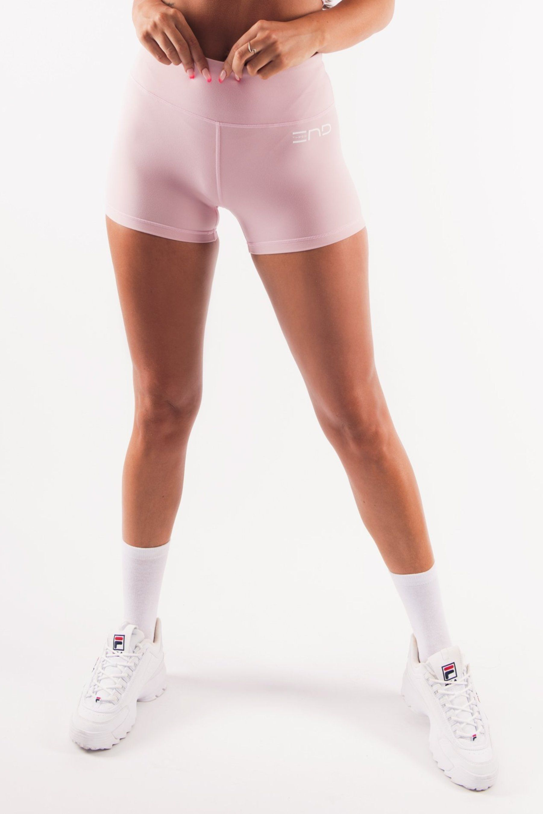 Three End Hyped Booty Shorts - Dusty Pink