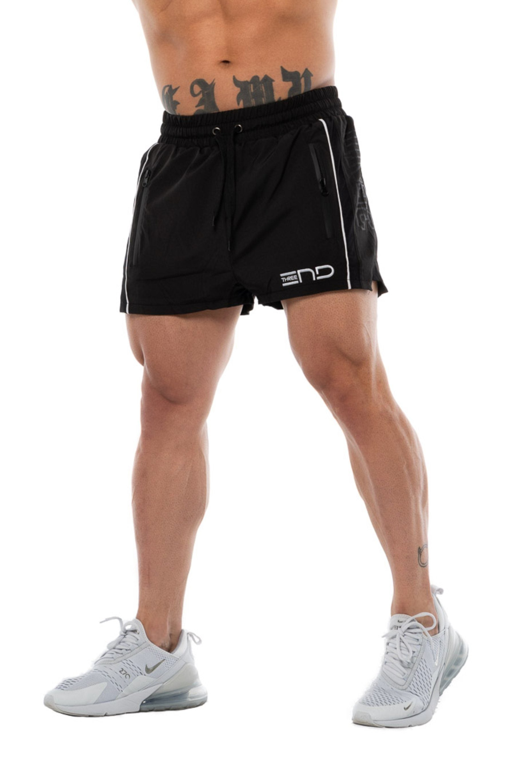 Three End Lifting Shorts - Black