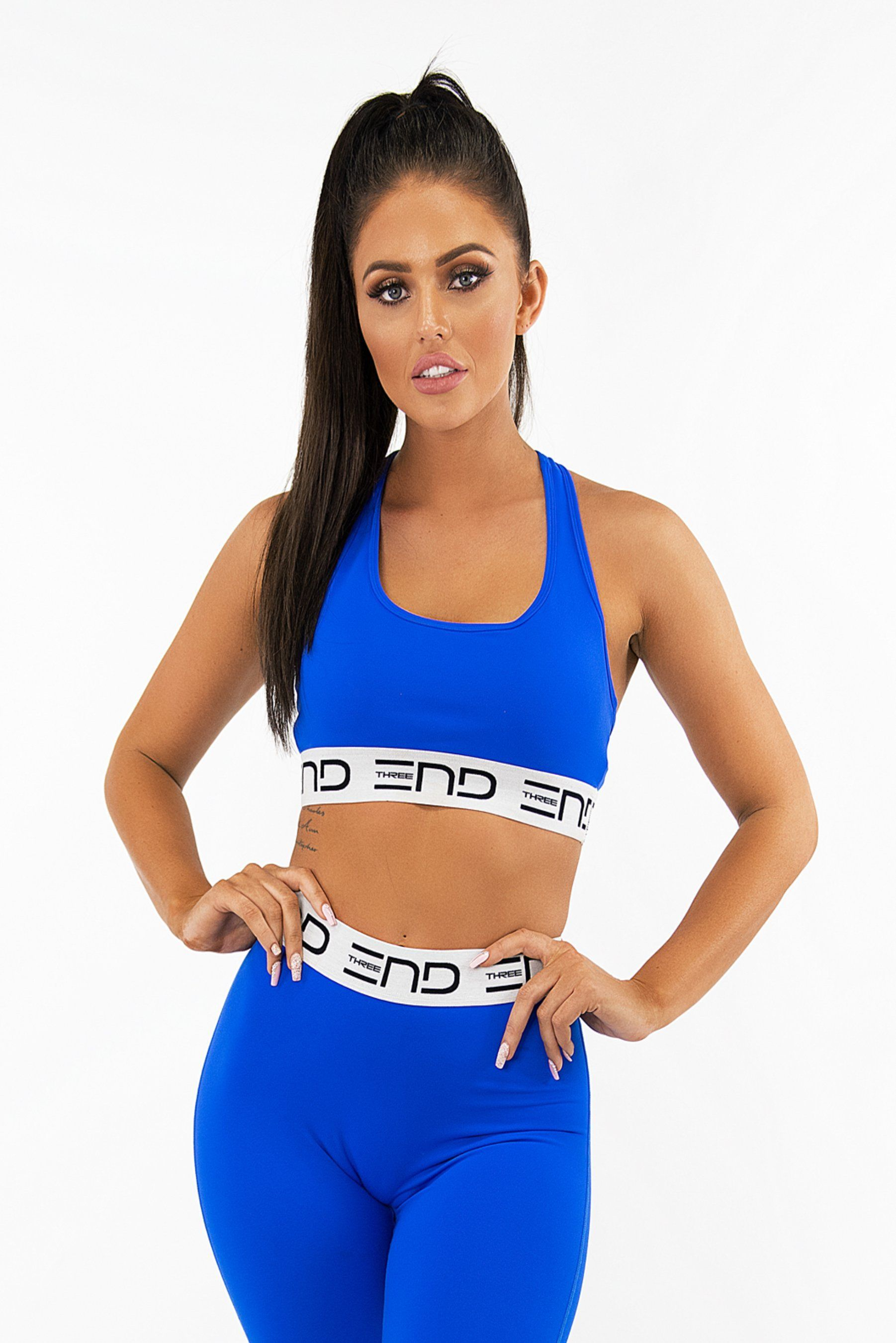 Three End Track Sports Bra - Electric Blue