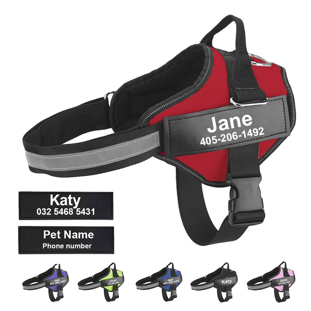 NEW Personalized No-Choke Dog Harness (+FREE Custom Patch!)