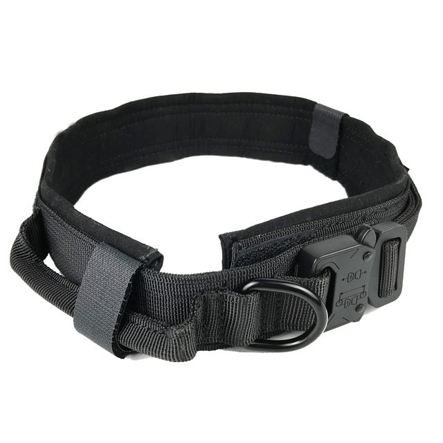 Heavy Duty Tactical Dog Collar With Handle