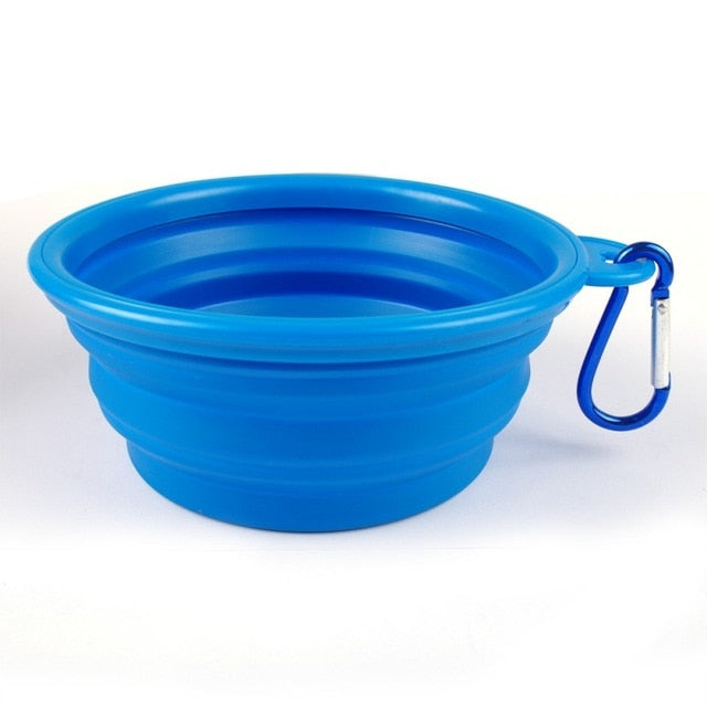 Portable & Collapsible Silicone Safe Travel Bowl (+Carrier Clip!)