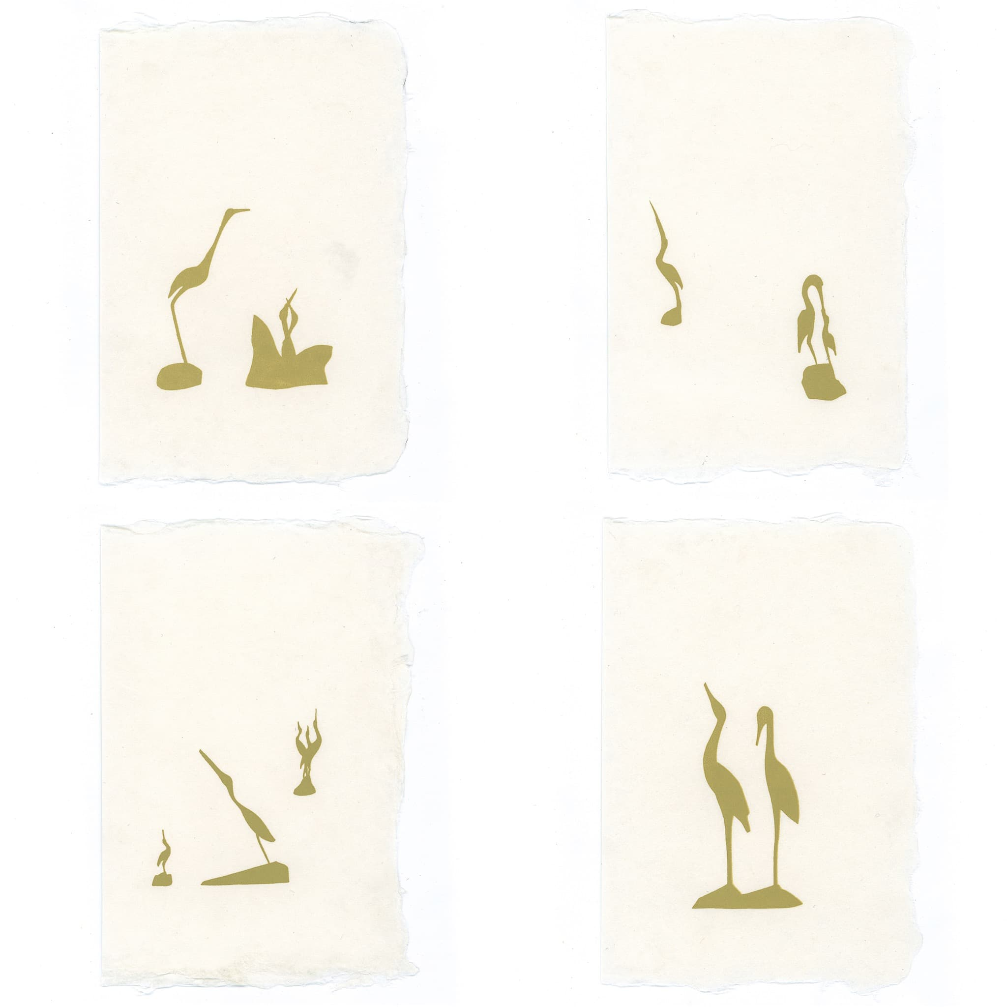 Cranes Stationery | Set of 8