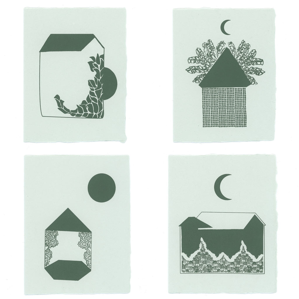 Midnight Moon Stationery | Set of 4
