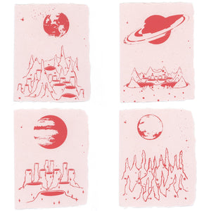 Moonscape Stationery | Set of 4
