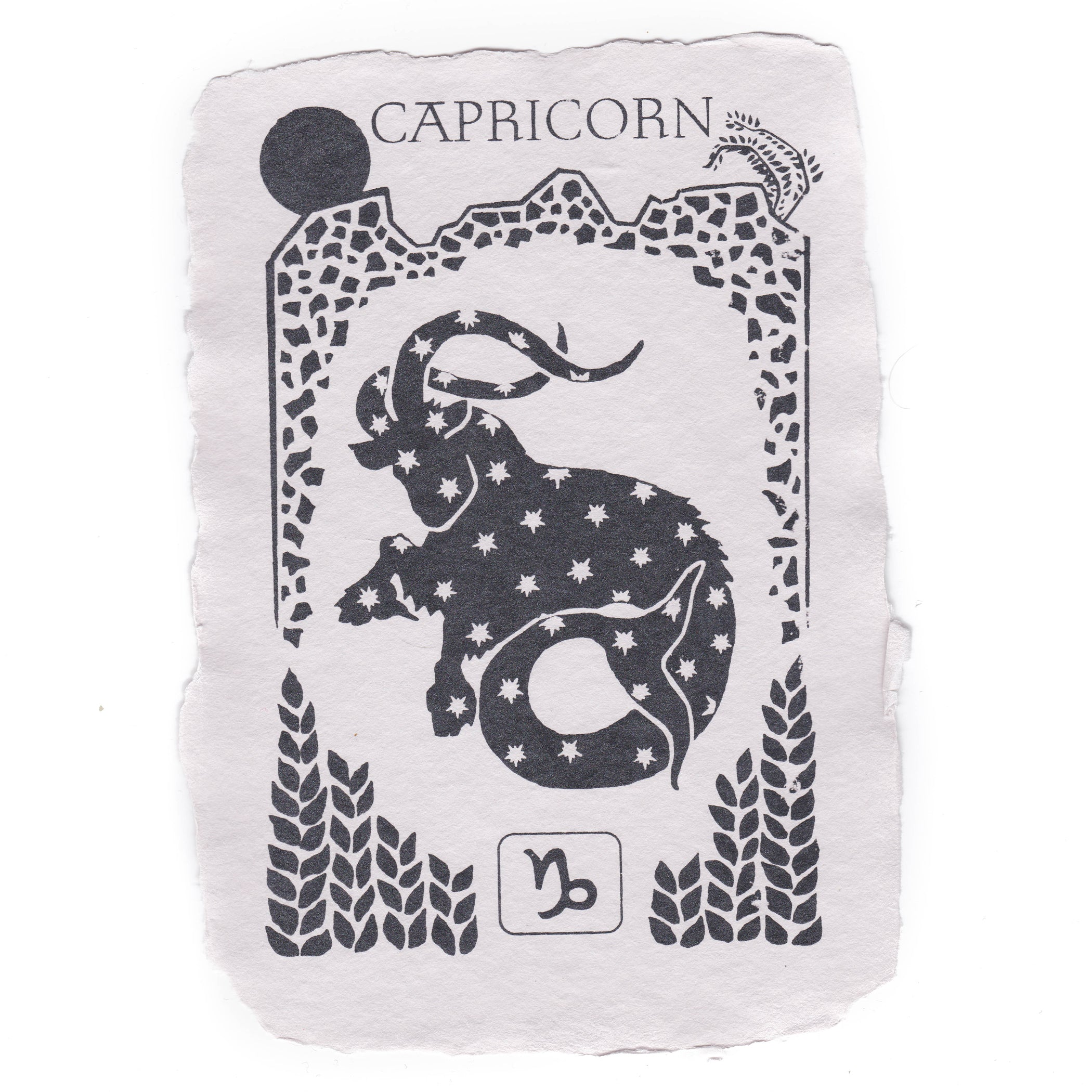 Capricorn Notecard
