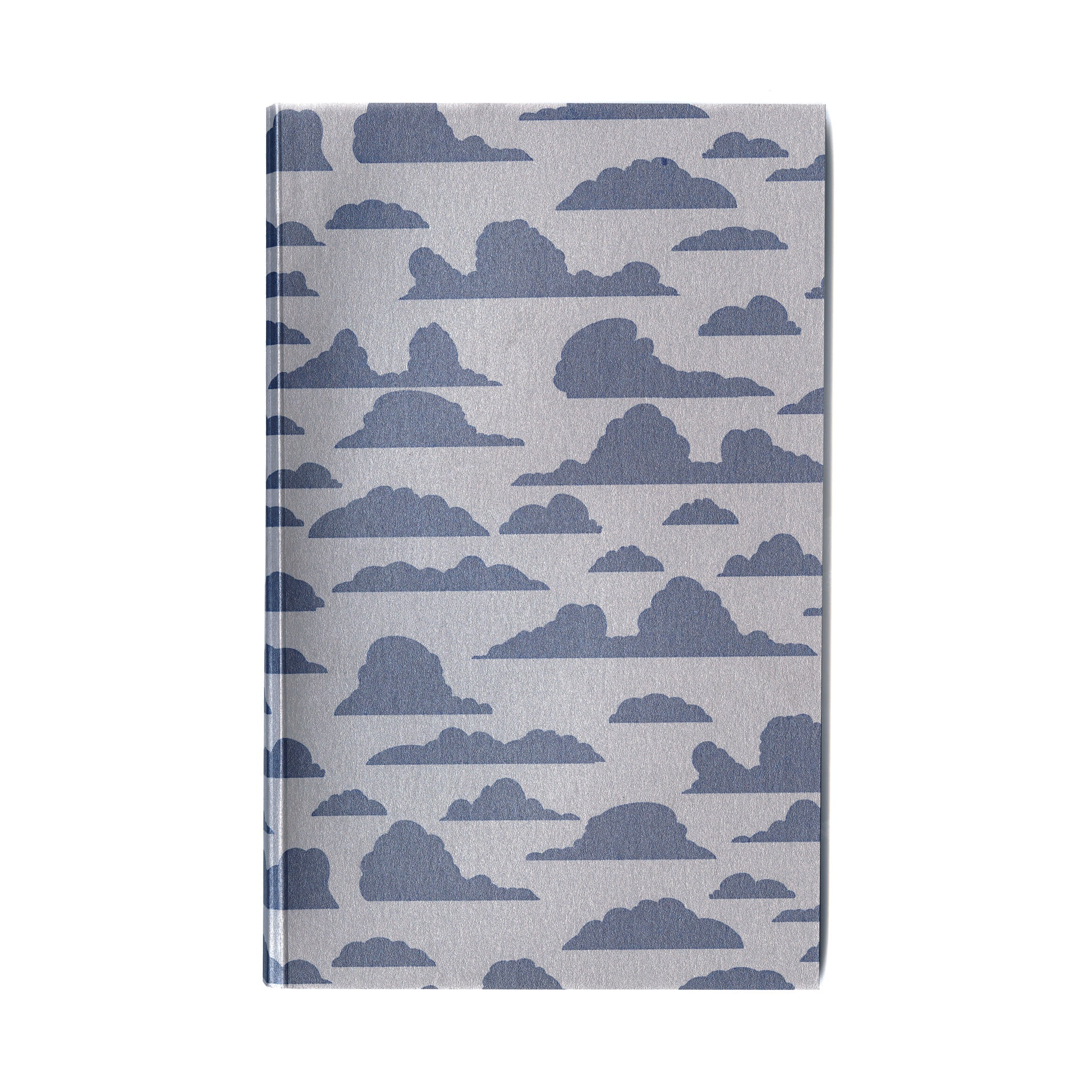 Everyday journal with original blue cloudy print cover and eighty 100% cotton paper pages
