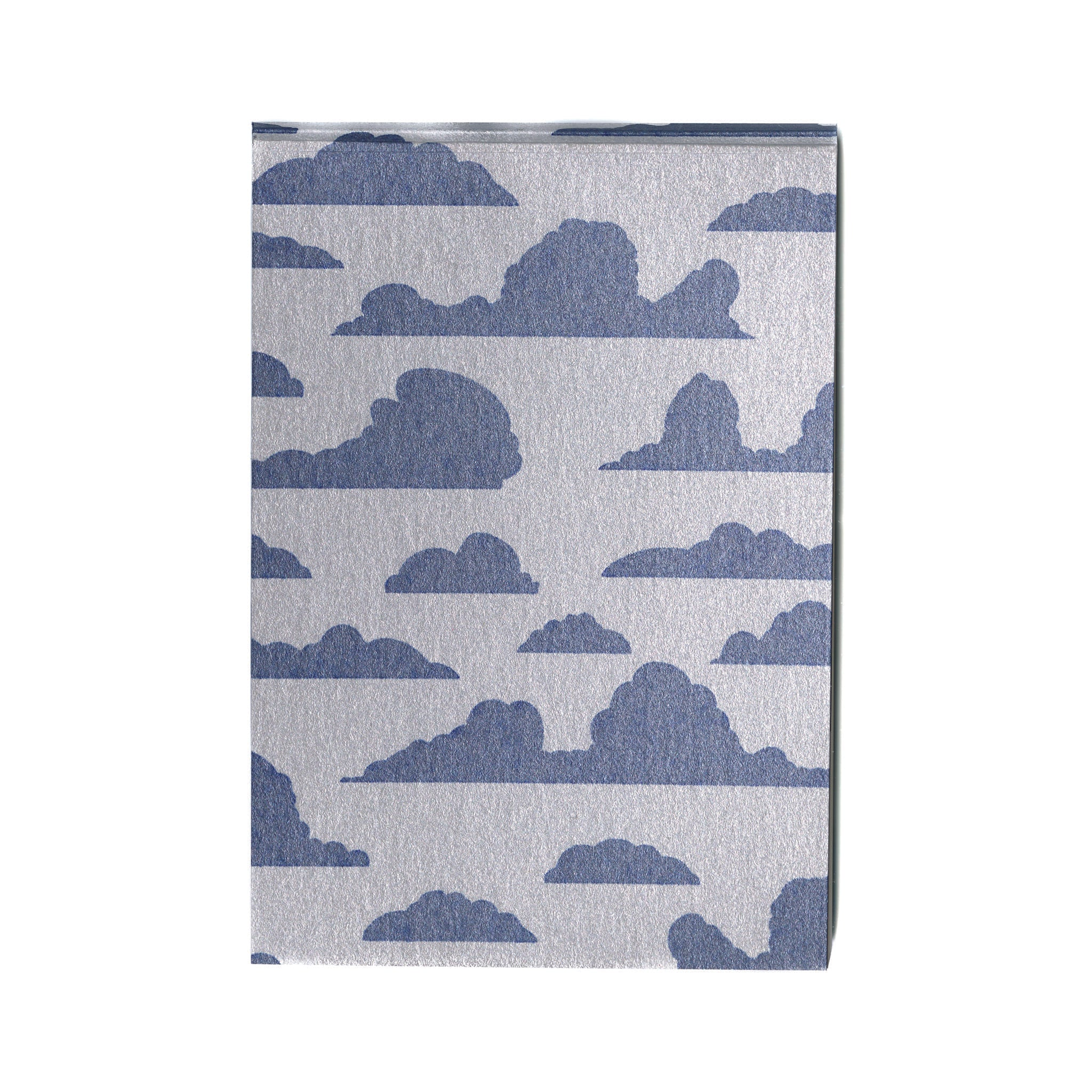 Pocket mini journal with original blue cloudy print cover and 100% cotton paper pages