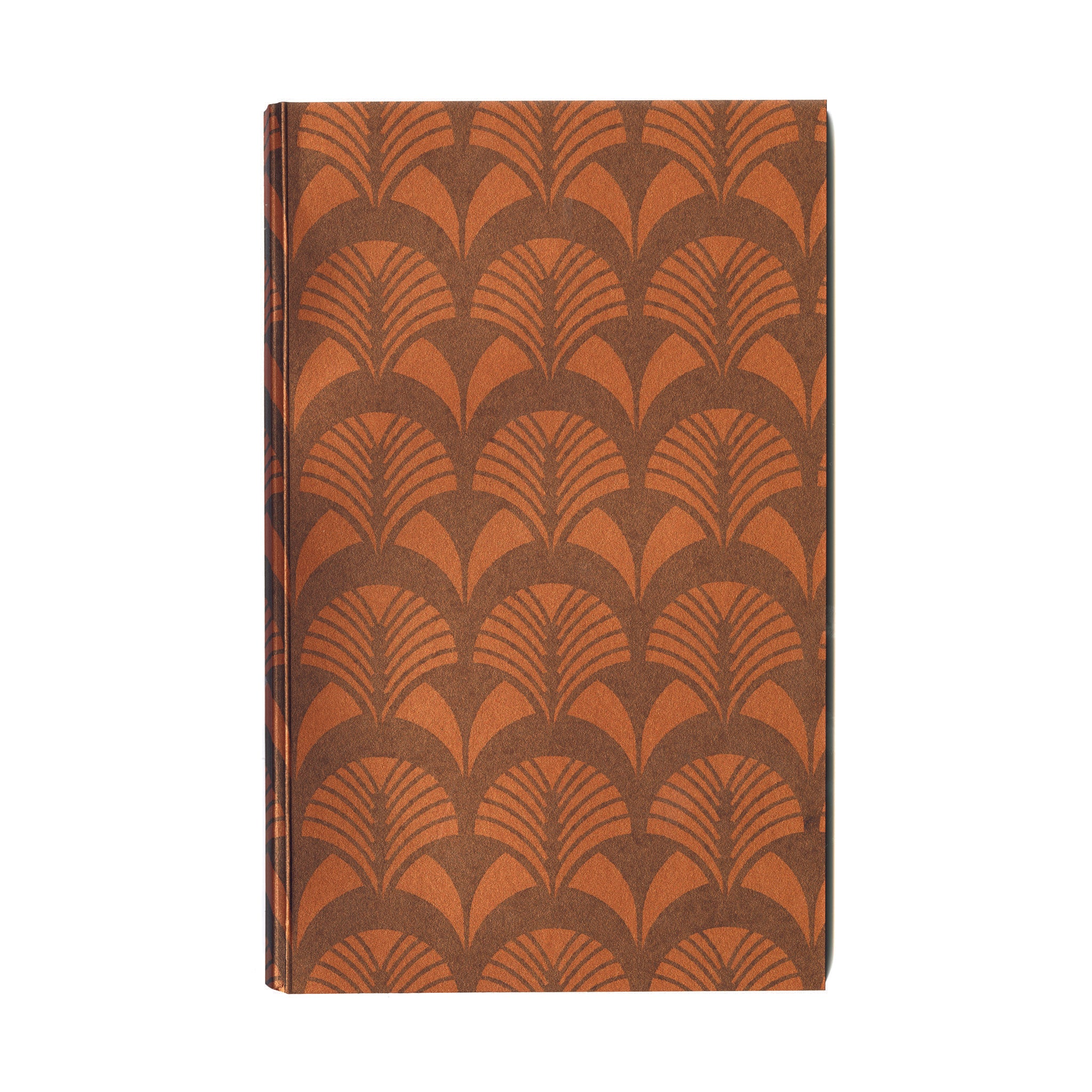Everyday journal with original deco II orange and black print cover & eighty 100% cotton paper pages