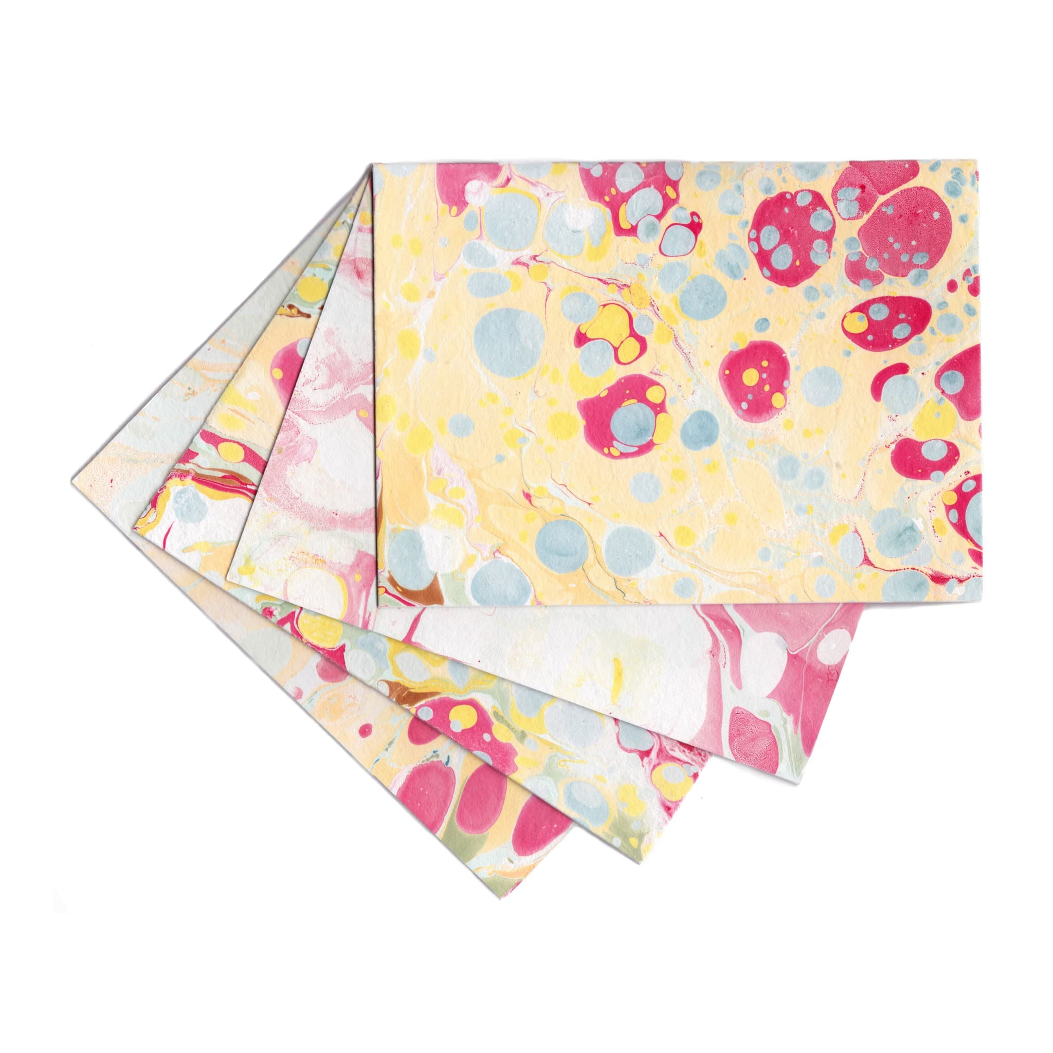 Warm Marbled Stationery | Set of 4