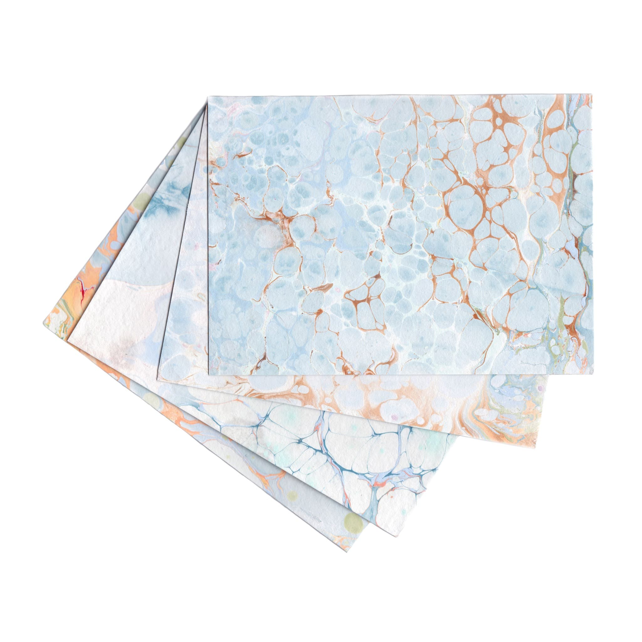 Cool Marbled Stationery | Set of 4