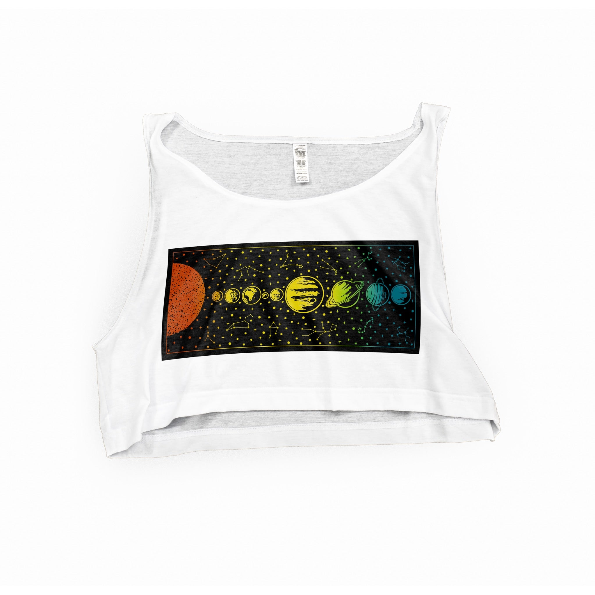 Planet Poster Cropped Tank