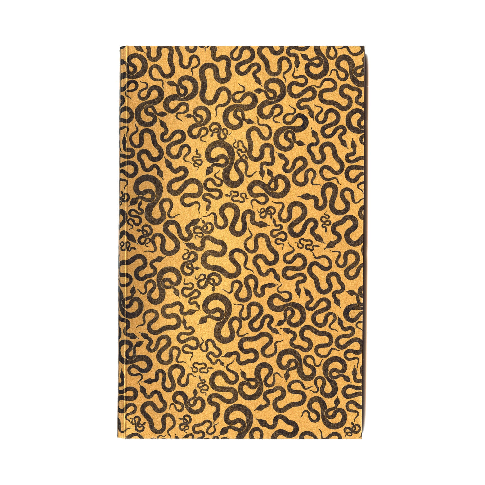 Everyday journal with yellow original snake design serpent cover & eighty 100% cotton paper pages