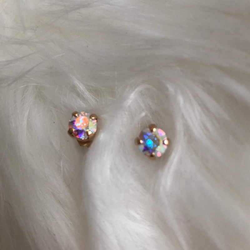 fd0fae641efec6 Rose Gold Crystal Ring + Swarovski Crystal Gold Earrings – Shop Coco ...