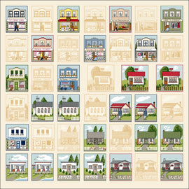Craft Co - NZ Papers - Around NZ - 12x12 Paper Kiwi Town Cutouts