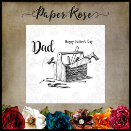 Paper Rose - Dad's Toolbox Clear Stamp Set