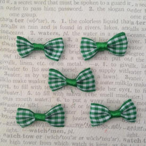 Artfull Embellies - Gingham Bow - Green