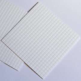 3D Foam Squares 5x5x1mm - White Core (400)