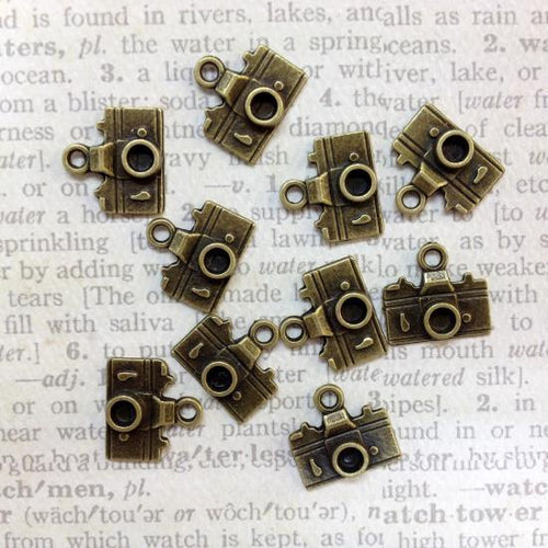 Artfull Embellies - Camera Charms - Antique Bronze