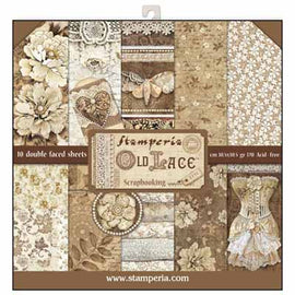 Stamperia - 12x12 Paper Pack - Old Lace