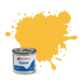 Humbrol - 14ml Enamel Paint - Matte Trainer Yellow