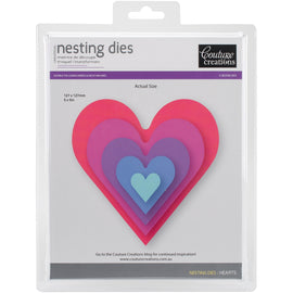 Couture Creations - Nesting Dies - Hearts